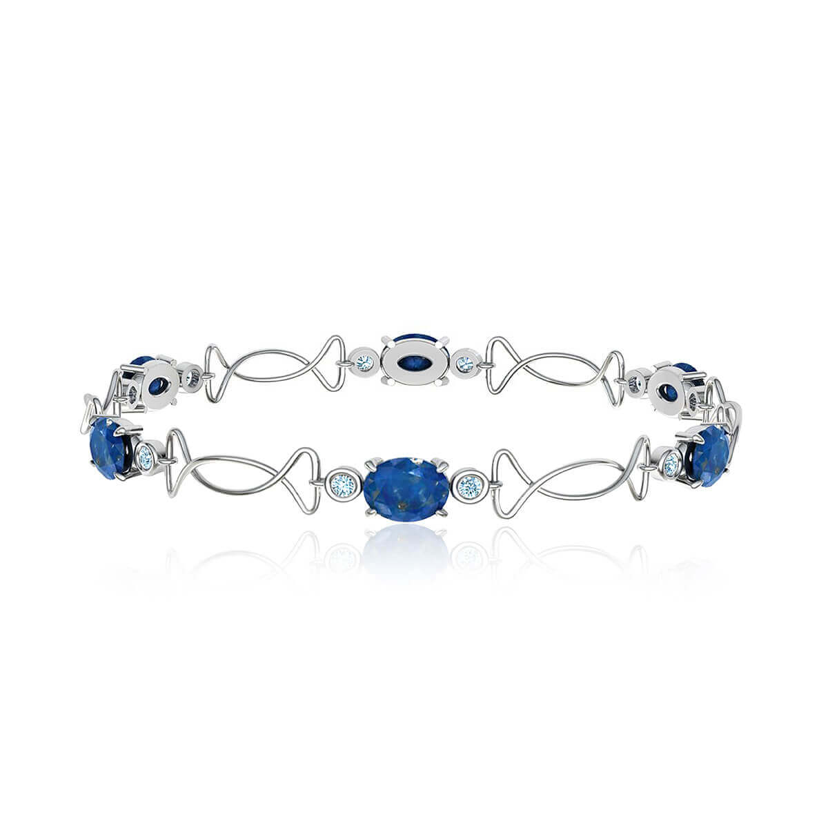 Bashford AnaCapri Sapphire and Diamond Bracelet (1/2 CT. TW.)