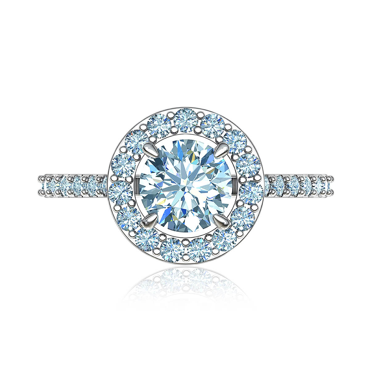 Adelaide Halo Diamond Ring