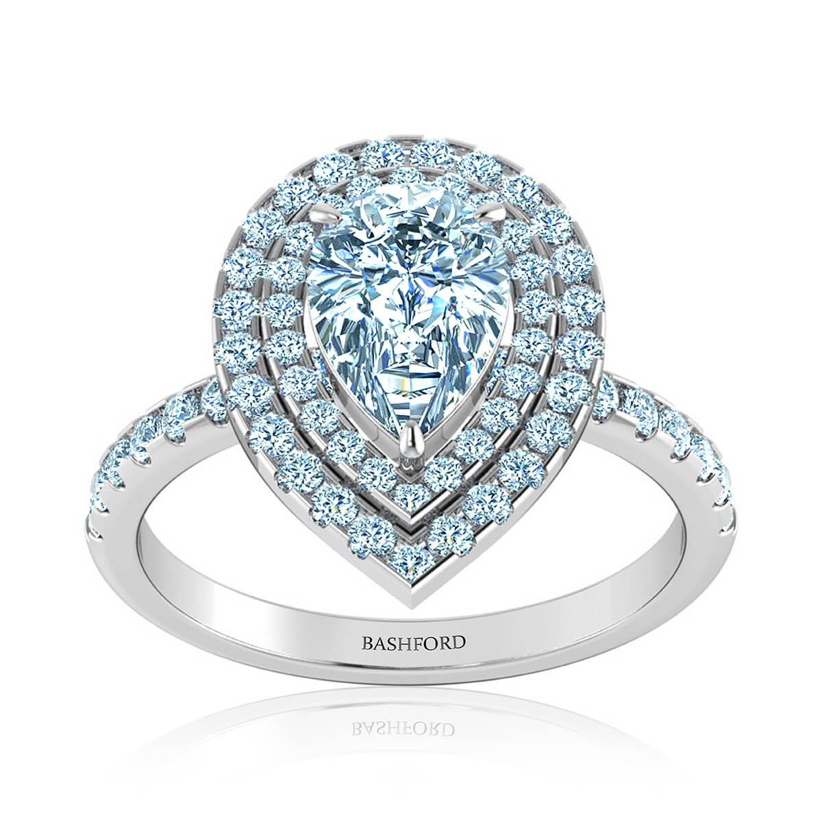 Amalfi Halo Diamond Ring