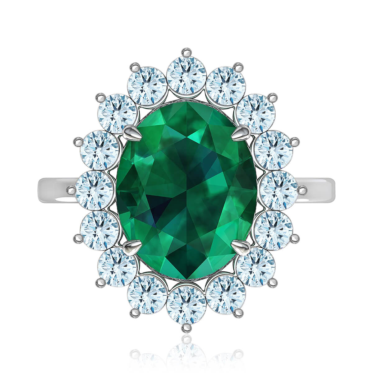 Maribel Emerald & Diamond Ring