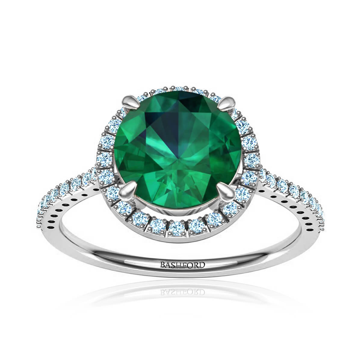Lolita Emerald Ring (with 3/4 Carat Round Emerald)
