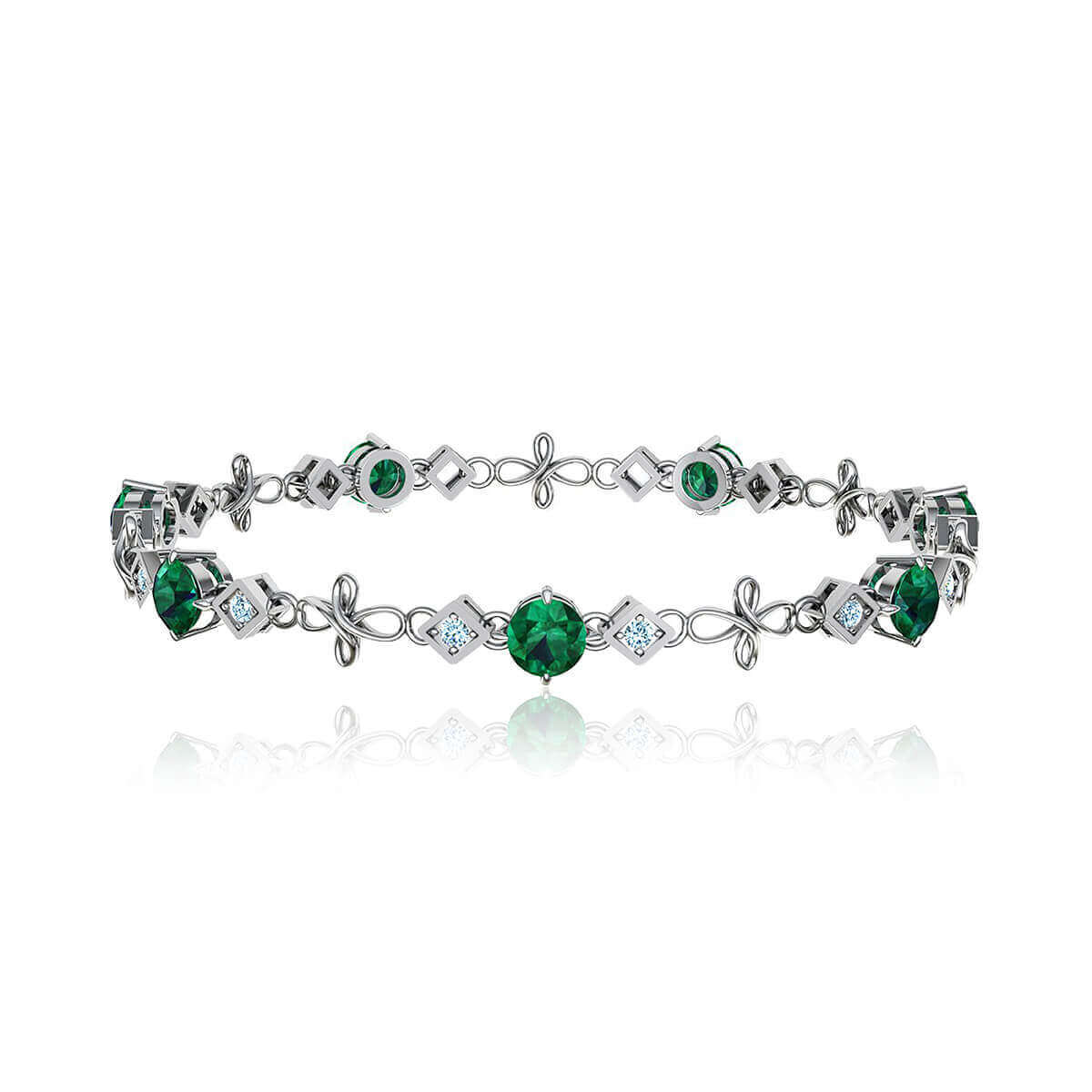 Bashford Lorna Emerald and Diamond Bracelet (1/2 CT. TW.)