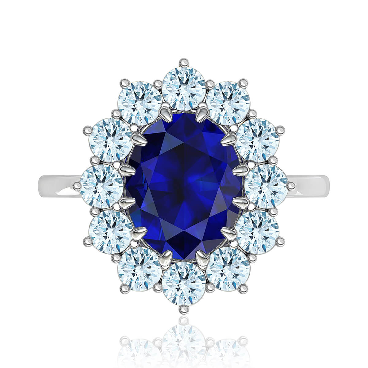 Isadora Sapphire & Diamond Ring