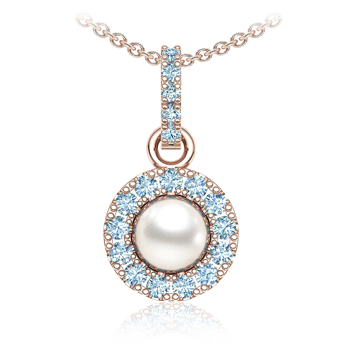 Perla Pearl Diamond Necklace