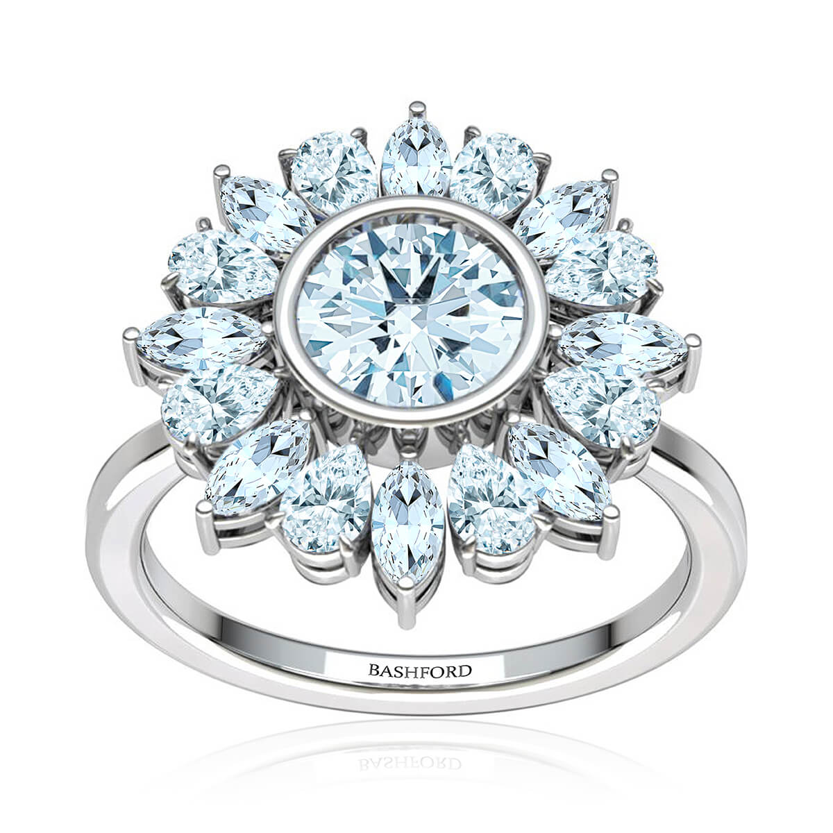 Campania Halo Diamond Ring
