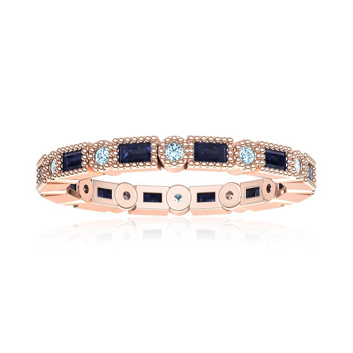 Royal Eternity Sapphire and Diamond Ring (1/4 CT. TW.)