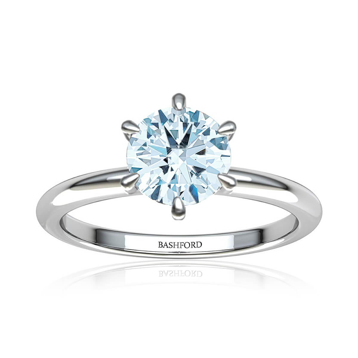 Serendipity Diamond Ring  (with VS2, G,  3/4 Carat Round Diamond)