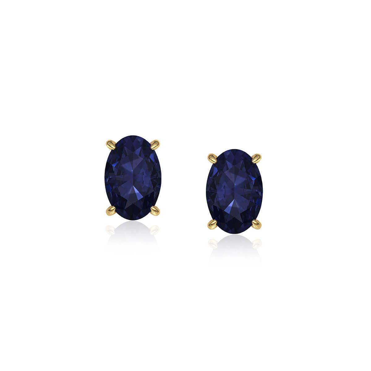 Saprina Oval Sapphire Earrings