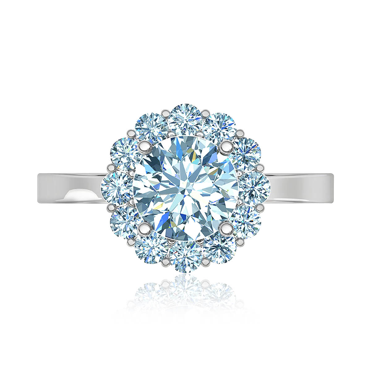 Tuscany Halo Diamond Ring