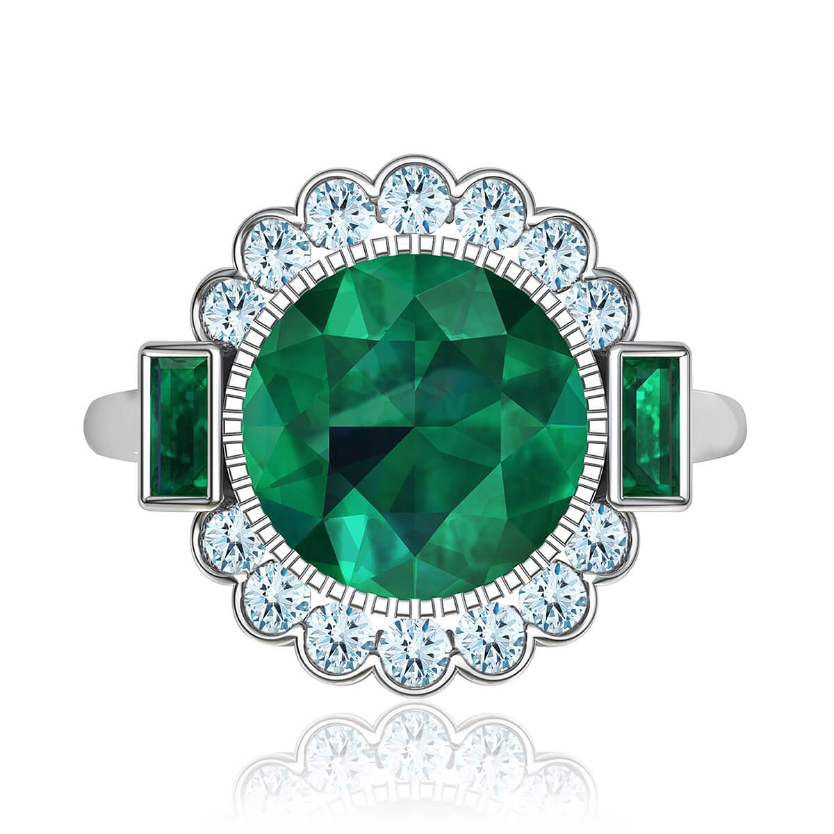 Milagrosa Emerald & Diamond Ring