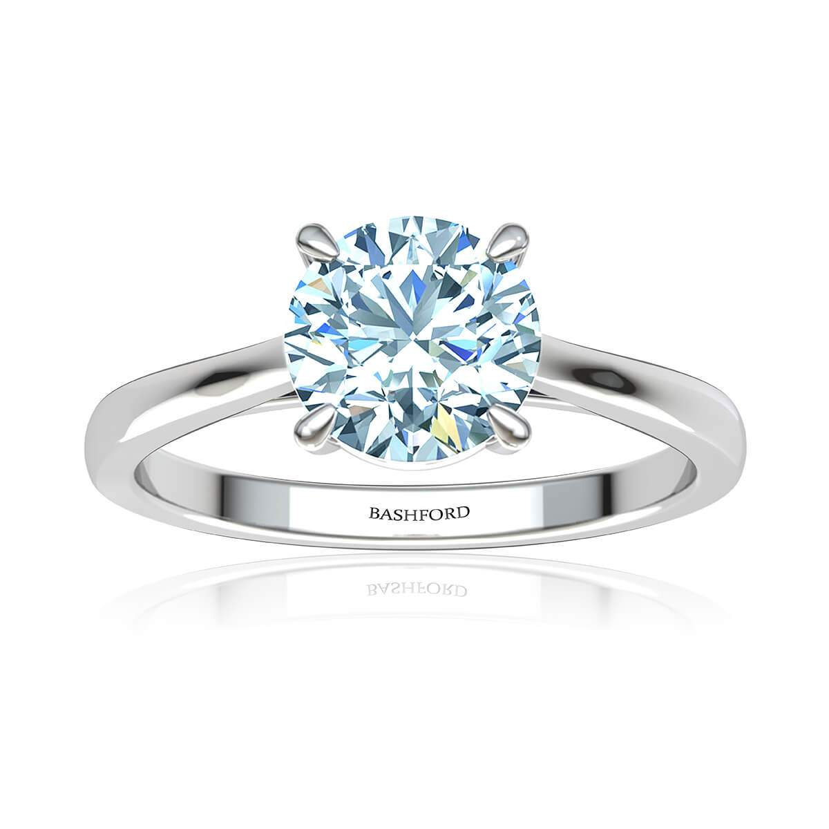 Alya Diamond Ring (with VS1, F, 1 1/2  Carat Round Diamond)