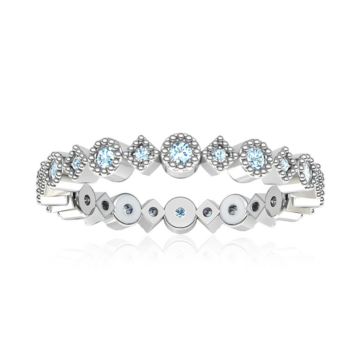 Maldita Eternity Diamond Ring (3/8 CT. TW.)