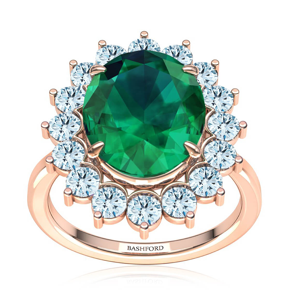 Maribel Emerald Ring (with 1 Carat Oval Emerald)